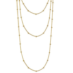 Kris Nations 3 in 1 Layering Necklace Gold N675-G