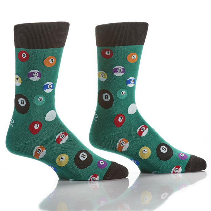 Yo Sox 8-Ball Men's Crew Socks 411651