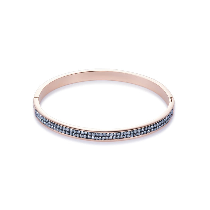 COEUR DE LION Anthracite Crystal Pave Bangle 0214-33-1223