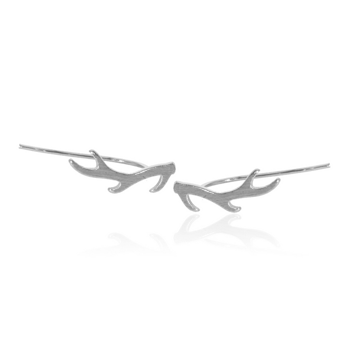 jj+rr Antler Earrings Silver 7E22-S