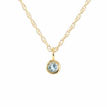 Kris Nations Aquamarine Charm Necklace Gold N778-G-AQUA