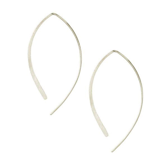 Kris Nations Arc Hoop Silver E191-S