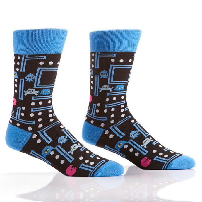 Yo Sox Arcade Games Men's Crew Socks 410704