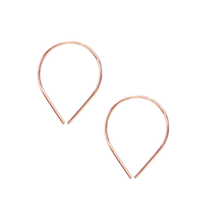 Kris Nations Balloon Pull Through Hoops Rose Gold E565-RG