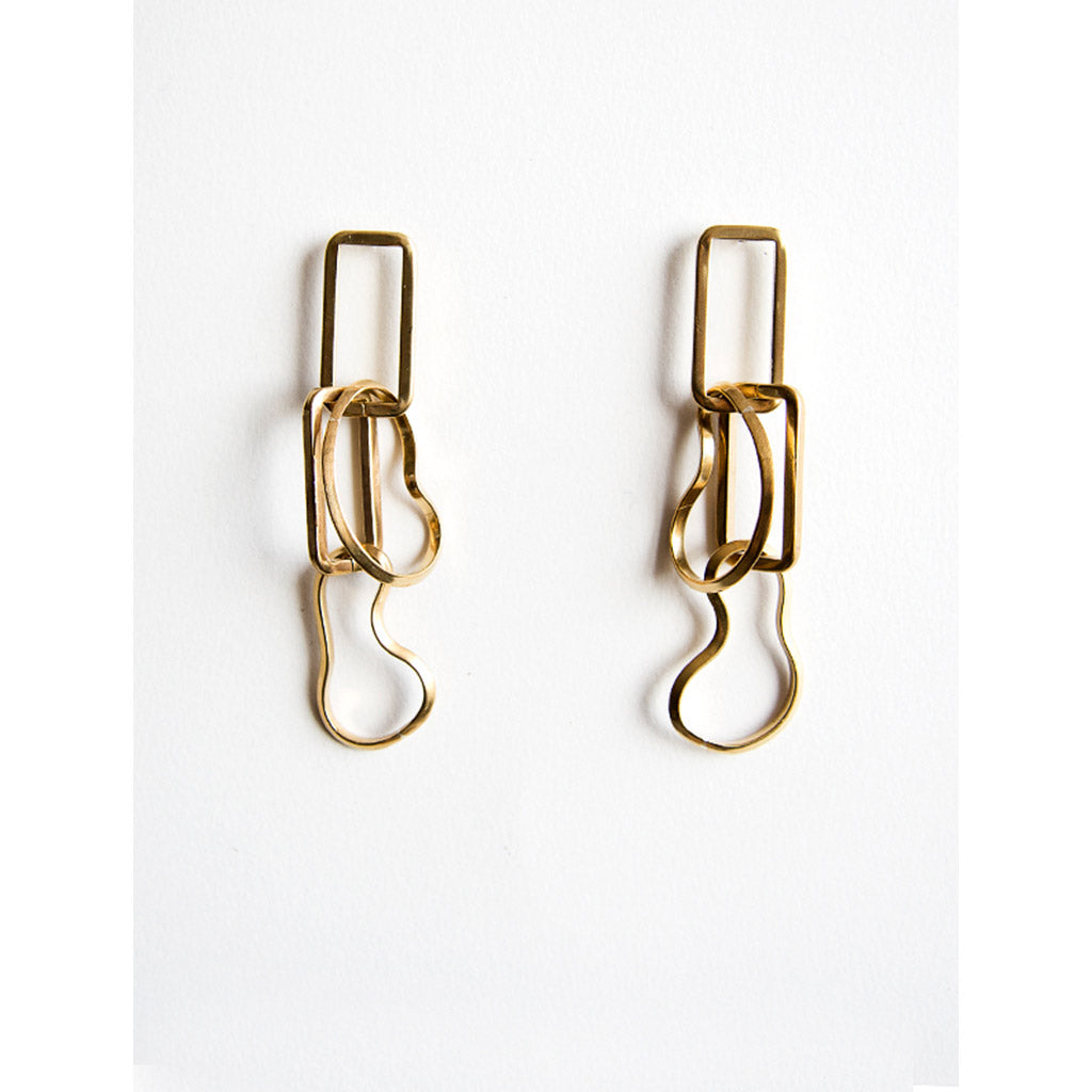 Michelle Ross Bay Brass Earrings HE16
