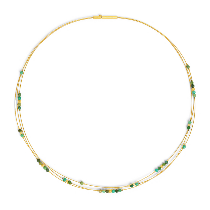 Bernd Wolf Bearitz Green Turquoise Necklace 85132356