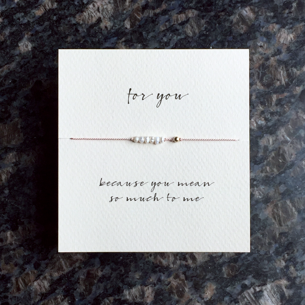 Mai Lin Because You Mean So Much To Me Reminder Bracelet