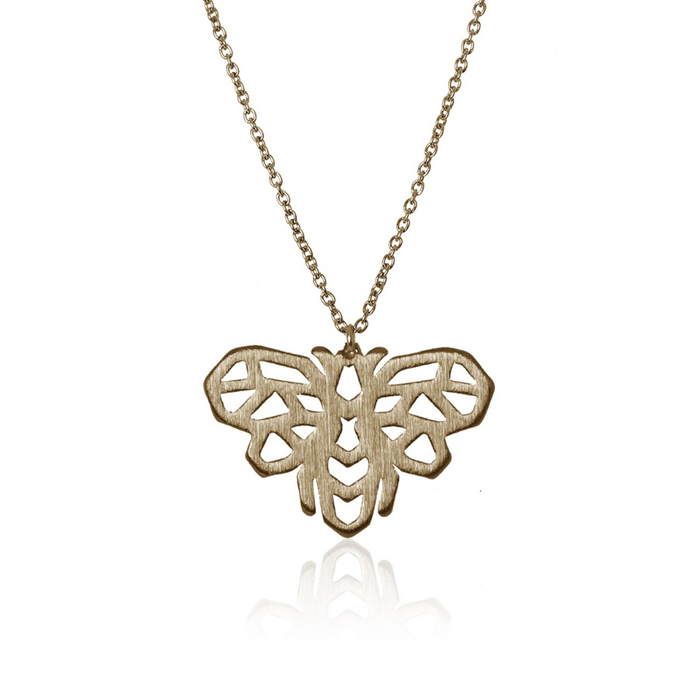 jj+rr Bee Origami Necklace Gold 7N4-G