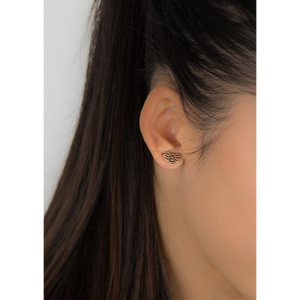 jj+rr Bee Origami Studs Rose Gold 7E4-RG