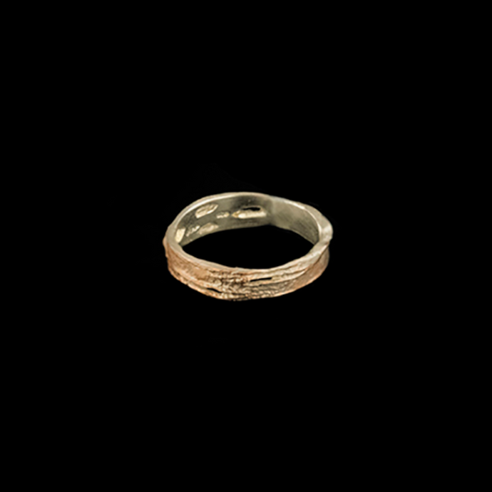 Silver Seasons Birch Bark Narrow Ring 8362PS