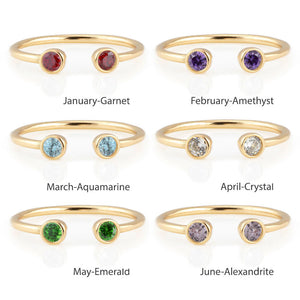 Kris Nations Birthstone Ring R2
