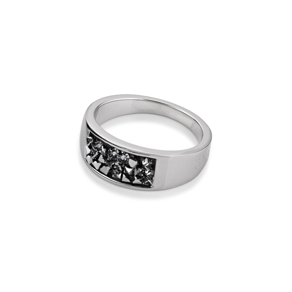 COEUR DE LION Black Crystal Ring 4834/40-1300