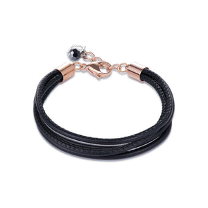 COEUR DE LION Black Leather Bracelet 0219-30-1300