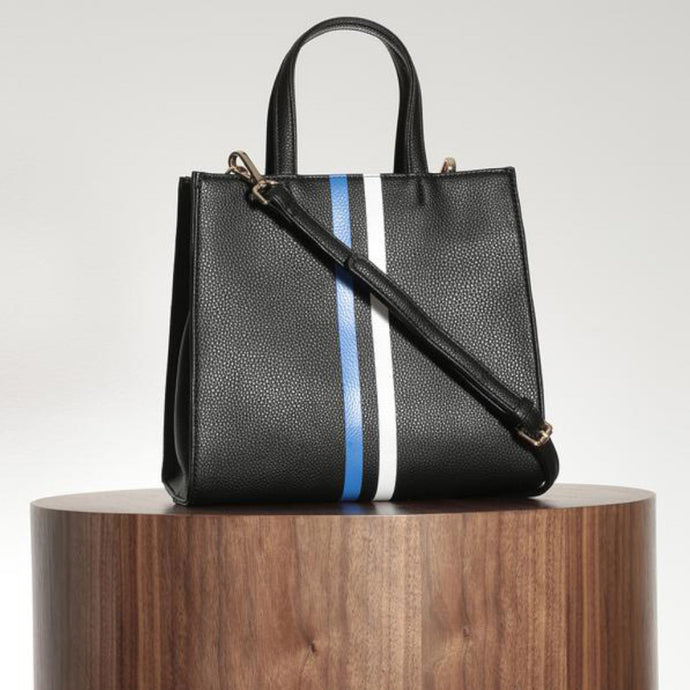 Black Stripe Mini Tote