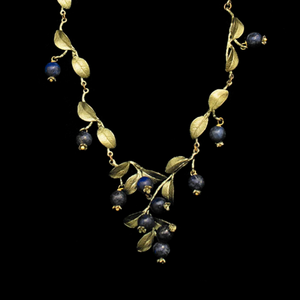 Silver Seasons Blueberry Cluster Necklace 7772BZBC