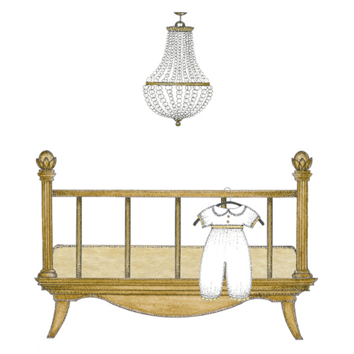 s.e. hagarman Boys Chic Crib Gift Enclosure GGE-36