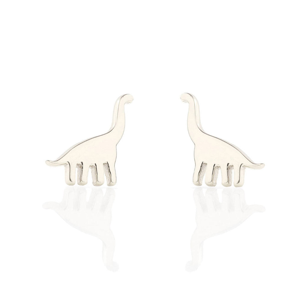 Kris Nations Brontosaurus Studs Silver E598-S