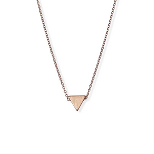 jj+rr Brushed Triangle Necklace Rose Gold 4N401-RG