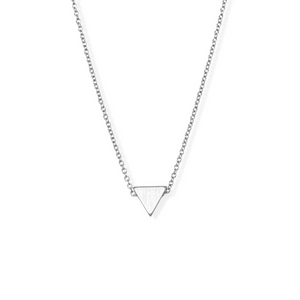 jj+rr Brushed Triangle Necklace Silver 4N401-S