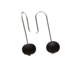 Alicia Niles Bubble Matte Black Earrings JZ103BKF