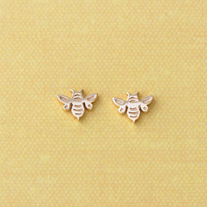 Kris Nations Bumble Bee Studs Gold E596-G