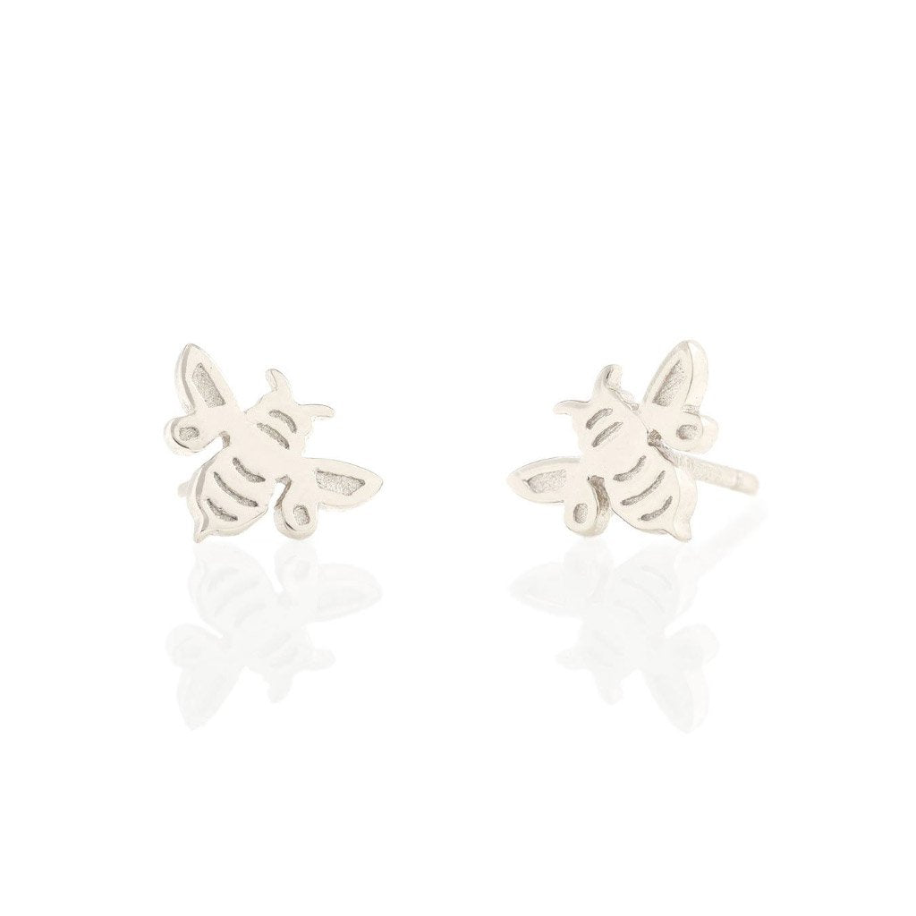 Kris Nations Bumble Bee Studs Silver E596-S