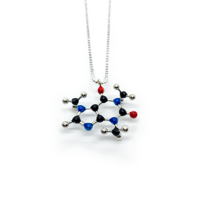 Slashpile Caffeine Molecule Necklace