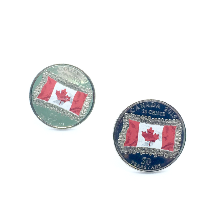 Cuff Stuff Canadian Flag Quarter Cufflinks CU0CQ1