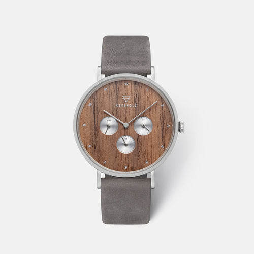 Kerbholz Caspar Walnut Shiny Grey Watch 4251240411743