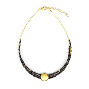 Bernd Wolf Chanti Black Spinel Choker 84306496