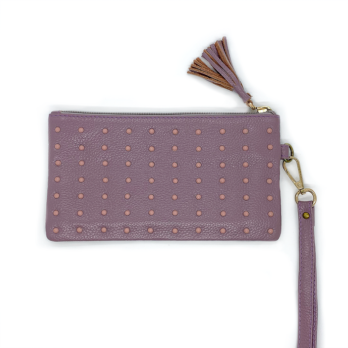 Uppdoo Cheer Studded Clutch Lavender