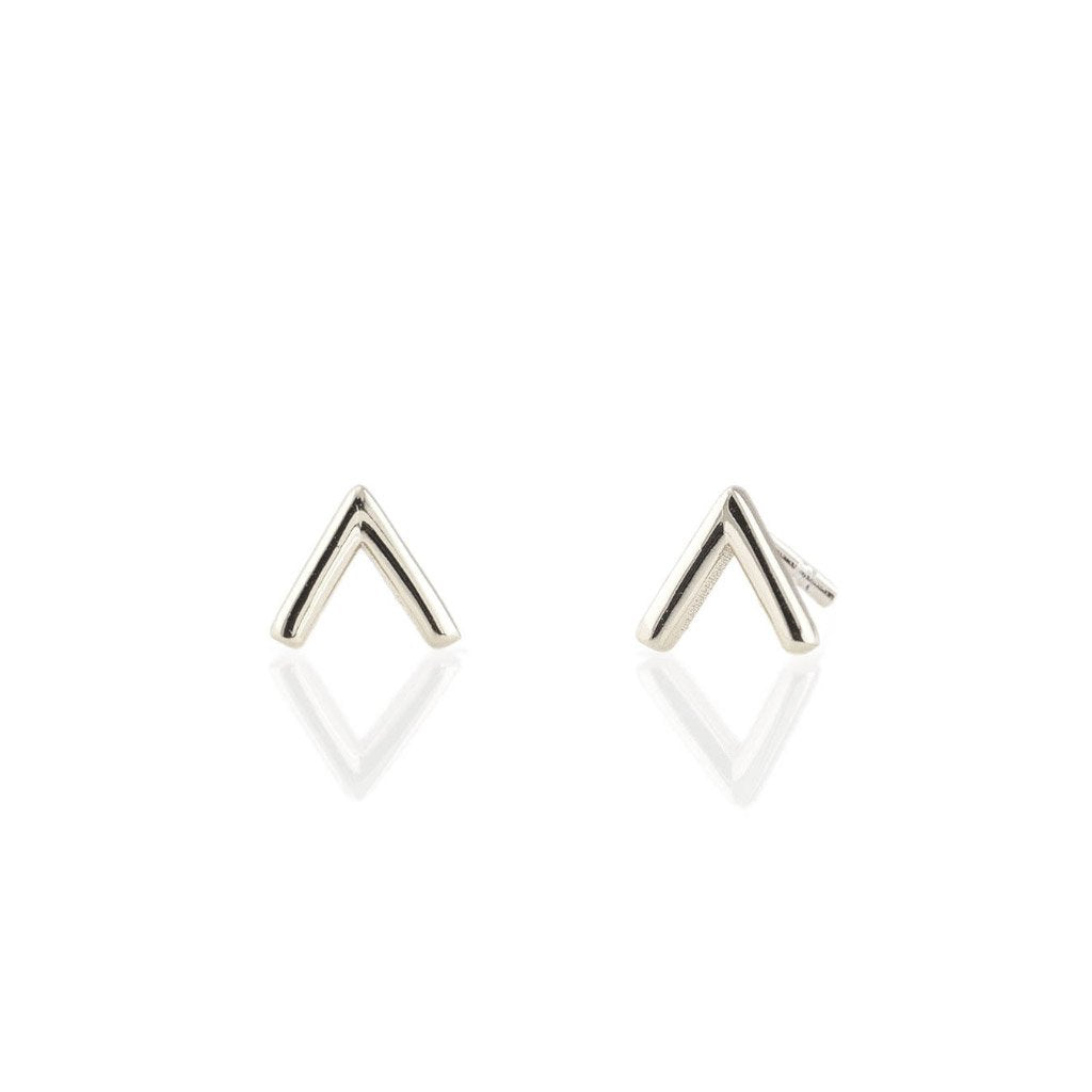 Kris Nations Chevron Studs Silver E584-S