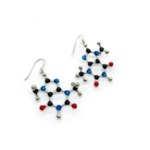 Slashpile Chocolate Molecule Earrings