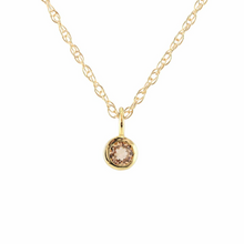 Kris Nations Citrine Charm Necklace Gold N778-G-CIT