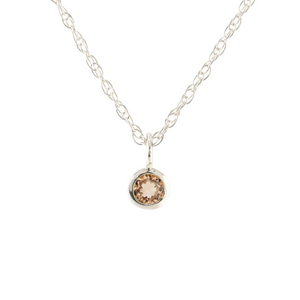 Kris Nations Citrine Charm Necklace Silver N778-S-CIT