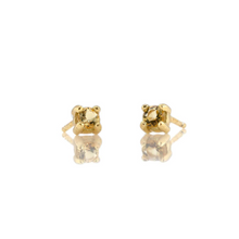 Kris Nations Citrine Prong Set Studs Gold E669-G-CIT