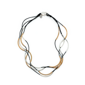 Lizzy James Lizzy Classic Gold/Silver Black Necklace