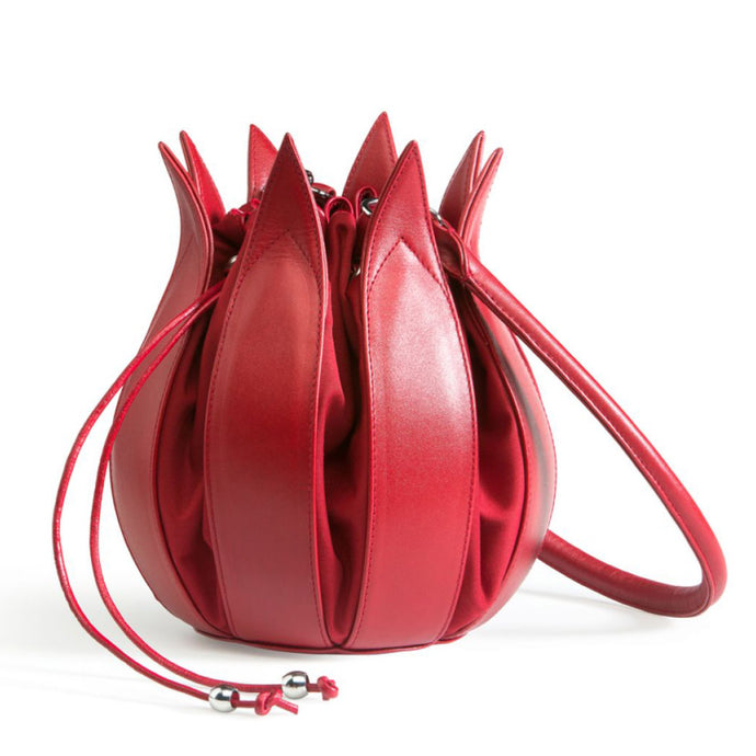 bylin Classic Leather Tulip Bag Red Red 071310