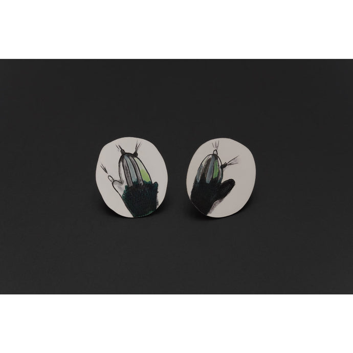 Deco Echo Colourful Cactus Studs 042882