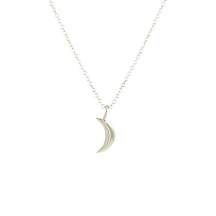 Kris Nations Crescent Moon Necklace Silver N723-S