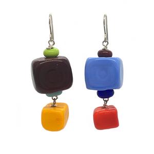 Alicia Niles Cube Multi-coloured Earrings CU117MC