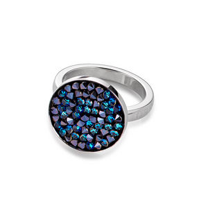 COEUR DE LION Dark Blue Crystal Circle Ring 4841-40-0721