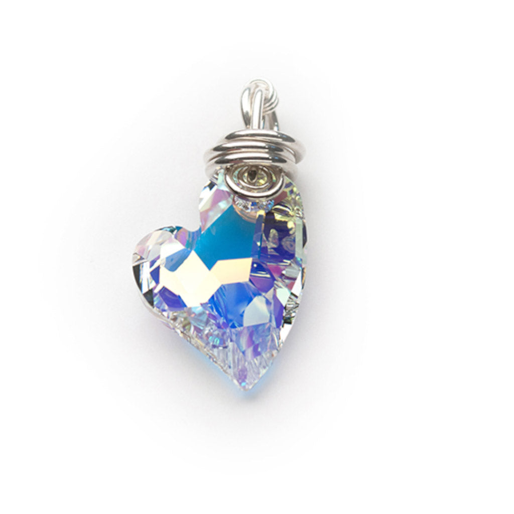Lisa Ridout Devoted 2 U Heart Pendant in Aurora Borealis Crystal