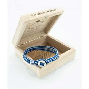 Pig & Hen Don Dino Cobalt Light Grey Bracelet