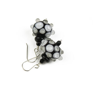 Alicia Niles Dot Black/White Earrings JZ113BKWH