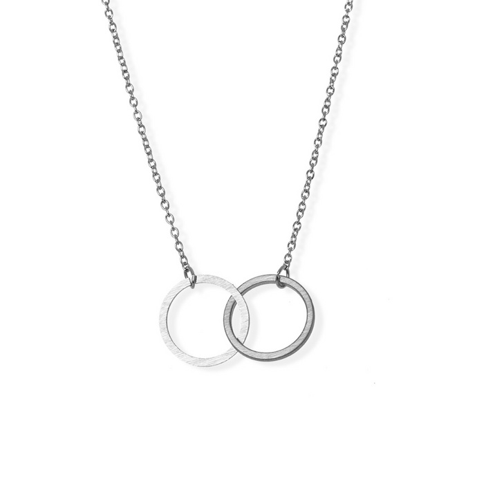 jj+rr Double Infinity Necklace Silver 4N433-S