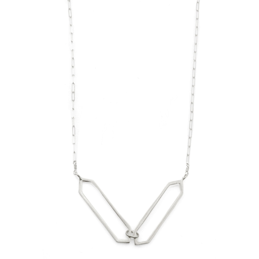 Philippa Roberts Double Open Hexagon Necklace 9411sn