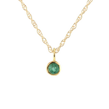 Kris Nations Emerald Charm Necklace Gold N778-G-EME