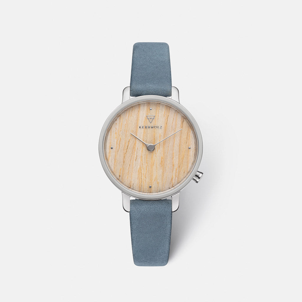 Kerbholz Emma Oak Navy Watch 4251240411699