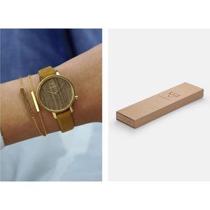 Kerbholz Emma Walnut Mustard Watch 4251240411682